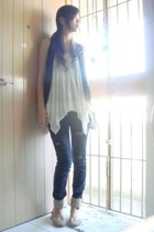 forever 21 top - vest - jeans - shoes