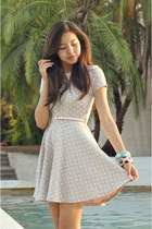 peach H&M dress - sky blue Forever 21 bracelet