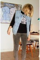 H&M Trend vest - threadlesscomj t-shirt - Dr Denim jeans
