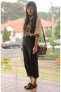 Black-thrifted-pants-beige-thrifted-blouse-brown-thrifted-purse-black-thri