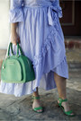 Sky-blue-maxi-who-what-wear-at-target-dress-green-top-handle-dkny-bag