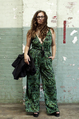 green jumpsuit H&M Conscious Collection dress