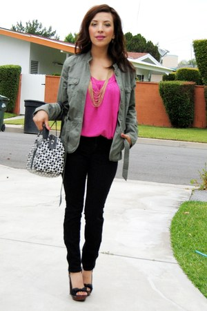 coach purse - Wild Pair shoes - H&M jacket - new york & co top - Forever21 pants