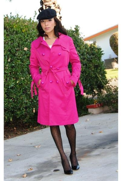 Hot Pink Coats | Down Coat