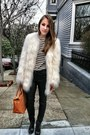 Black-zara-boots-white-bebe-jacket-blue-mariniere-st-james-sweater