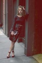 black lily bag Mulberry bag - black H&M skirt - black Zara pumps