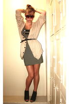 black Sparkle & Fade dress - beige - black - black - brown