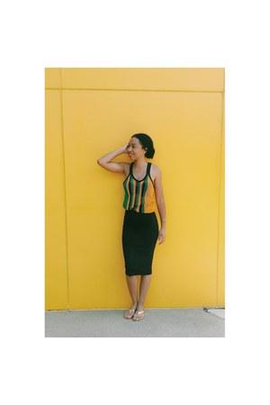 black midi H&M skirt