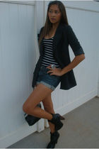 papaya blazer - Forever 21 top - Forever 21 shorts - Hot Topic accessories - Ika