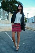 tartan suiteblanco skirt - Zara jacket - Deichmann heels