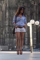 men Zara shirt - suiteblanco shorts - Primark wedges