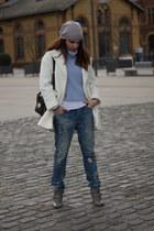 Pimkie coat - boyfriend jeans Bershka jeans