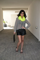 checkered print suiteblanco blouse - suiteblanco shorts - Primark sandals