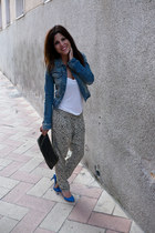 jean Stradivarius jacket - Lefties pants - suiteblanco heels