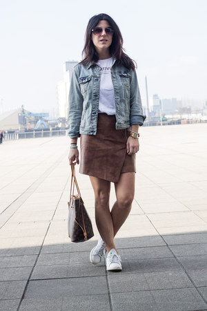 H&M skirt - Mango jacket - Louis Vuitton bag - Stan Smith x Adidas sneakers