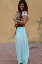 long Stradivarius skirt - leopard print Lefties bag - Lefties top