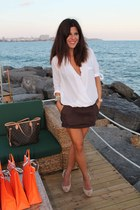 Zara blouse - Stradivarius skirt - Zara heels