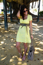 yellow primak dress - sandals suiteblanco heels