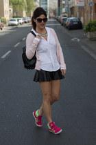 Lefties skirt - men Zara shirt - backpack Pimkie bag - Adidas sneakers