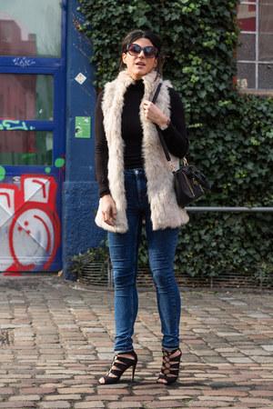 H&M jeans - Lefties heels - Lefties vest