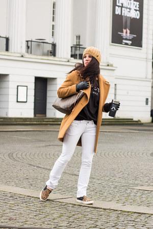 Zara coat - Zara jeans - Mango jumper