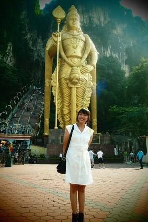 black black Korean Local Brand boots - white white Tamrin City dress