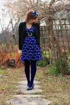 swap dress - Express tights - Gap cardigan