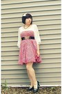 Thrifted-dress-wet-seal-shirt-sisters-heels-urban-outfitters-belt