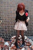 H&M blazer - Forever 21 shirt - Target tights - Forever 21 skirt - gift heels -