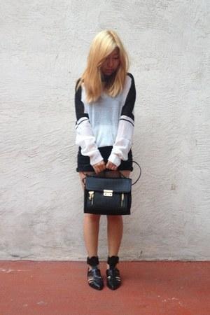 black Phillip Lim for Target bag - black Zara shoes - white ALC sweater