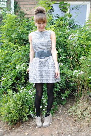 chanel inspired Zara dress - wedges tony bianco shoes