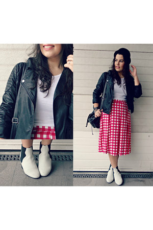 Zara boots - River Island hat - Primark skirt