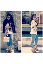 Tiffosi jeans - Zara top - Marypaz wedges
