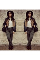 vintage boots - Forever 21 shirt - River Island pants