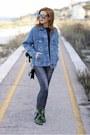 Green-roberto-botticelli-boots-sky-blue-bershka-jacket