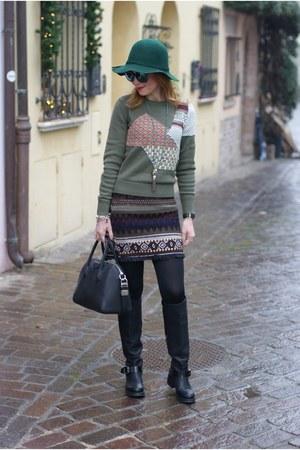 dark green & other stories sweater - black Lorenzo Mari boots