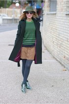 forest green Sumissura coat - black Alexander McQueen shoes