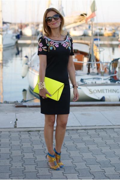 beaded Chi Chi London dress - Zara bag - Dolce & G sunglasses - icone sandals