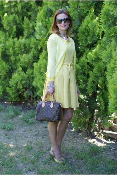 speedy 25 Louis Vuitton bag - Gaia deste shoes - cesare paciotti dress