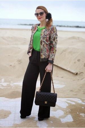 brown ethnic Paramita jacket - black Chanel bag - black Lunatic pants