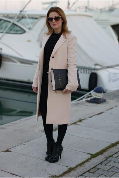 ca1e4503eef Light Pink Zara Coats, Black ASH Boots, Black Fabi Dresses |