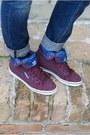 Blue-zara-jeans-maroon-wool-beanie-scotch-and-soda-hat