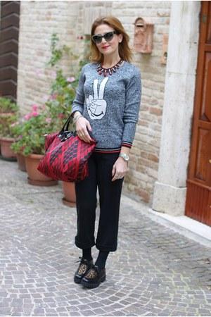 ruby red le pliage longchamp bag - black Roberto Botticelli shoes