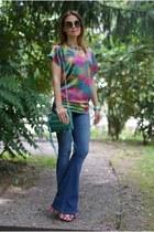 green zipper bag Rebecca Minkoff bag