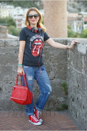 Pimkie t-shirt - pandora Givenchy bag - Converse sneakers