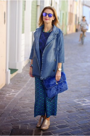 blue denim jacket blackfive jacket - cream Lemaré shoes - blue Sodini bag