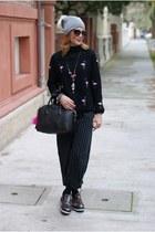 black flamingo May&Co sweatshirt - silver Massimo Rebecchi hat