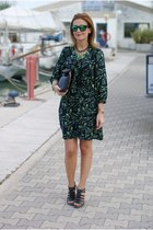 black Ruby Rocks dress - black Zara bag - green Oakley sunglasses