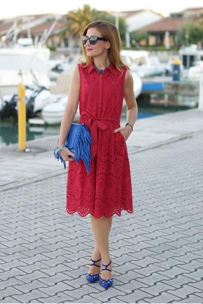 Ruby Red 123 Paris Dresses Blue Giancarlo Paoli Shoes Blue