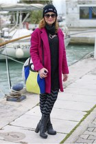 hot pink fuchsia PERSUNMALL coat - gray Marc Ellis boots